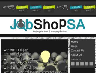jobshopsa.co.za screenshot