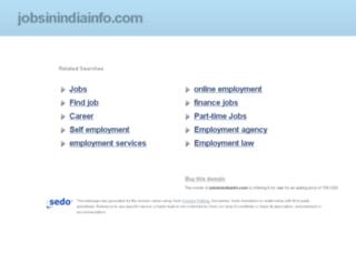 jobsinindiainfo.com screenshot