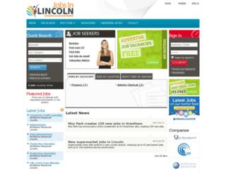 jobsinlincoln.co.uk screenshot