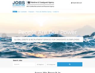 jobsinmaritime.com screenshot