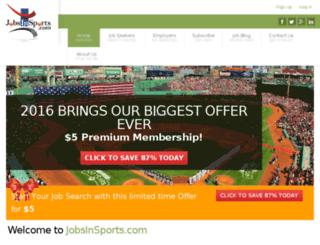 jobsinsports.oyova.com screenshot