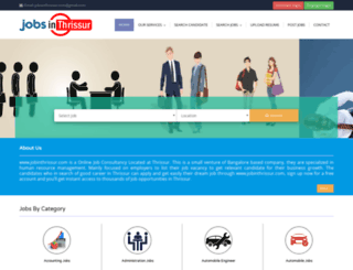 jobsinthrissur.com screenshot