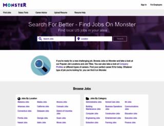 jobsinvermont.monster.com screenshot