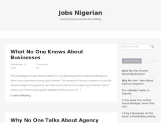 jobsnigerian.info screenshot