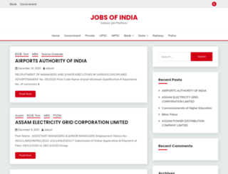 jobsofindia.in screenshot