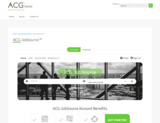 jobsource.acg.org screenshot