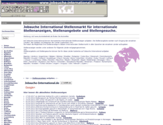 jobsuche-international.de screenshot