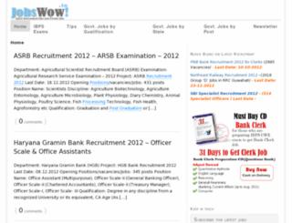 jobswow.in screenshot