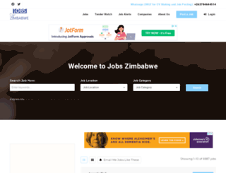 jobszimbabwe.co.zw screenshot