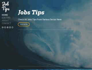 jobtip.weebly.com screenshot