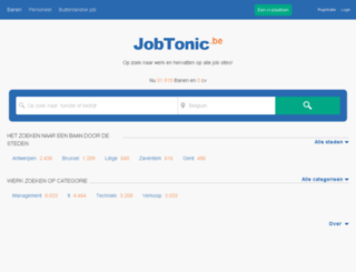 jobtonic.be screenshot