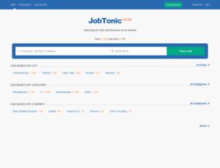 jobtonic.co.za screenshot
