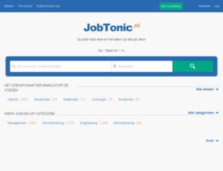 jobtonic.nl screenshot