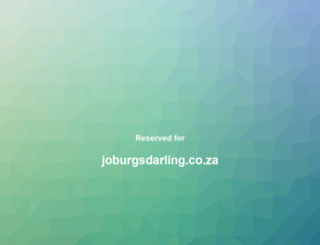 joburgsdarling.co.za screenshot