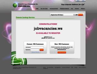 jobvacancies.ws screenshot