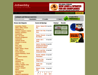 jobwebby.com screenshot
