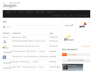 jobzippers.com screenshot