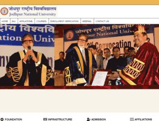 jodhpurnationaluniversityonline.org screenshot