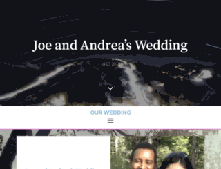 joeandreawedding.com screenshot