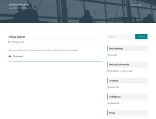 joeanswers.net screenshot