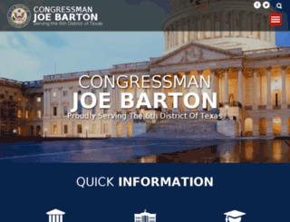 joebarton.house.gov screenshot