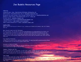 joebudelis.homestead.com screenshot
