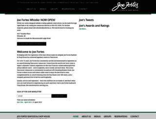 joefortes.ca screenshot