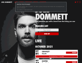 joeldommett.com screenshot