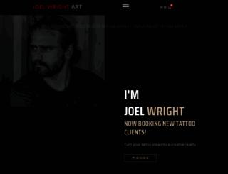 joelwrightart.com screenshot
