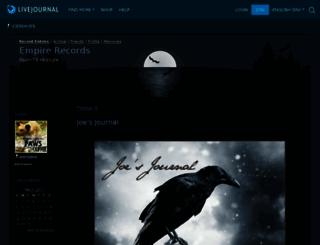 joereaves.livejournal.com screenshot