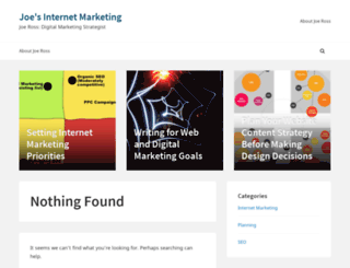 joesinternetmarketing.com screenshot