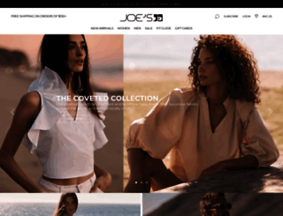 joesjeans.com screenshot