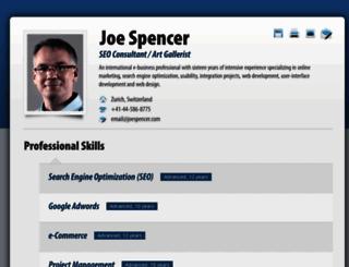 joespencer.com screenshot