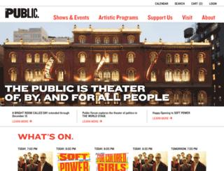 joespub.publictheater.org screenshot