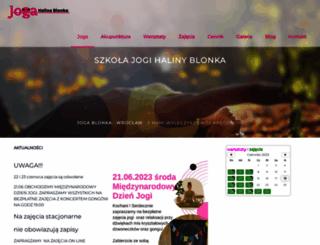 joga-blonka.pl screenshot