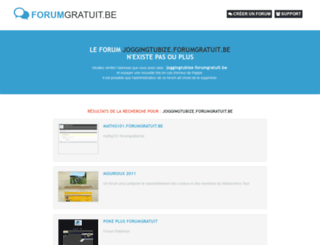 joggingtubize.forumgratuit.be screenshot