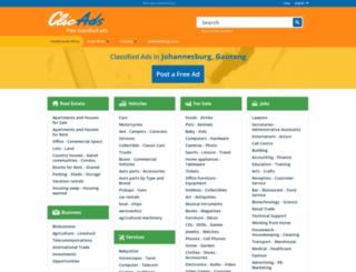 johannesburg.clicads.co.za screenshot