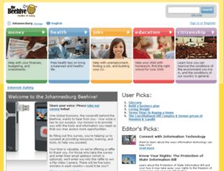 johannesburg.thebeehive.org screenshot
