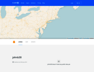 johnb30.cartodb.com screenshot