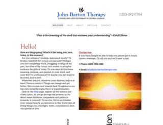 johnbartontherapy.com screenshot