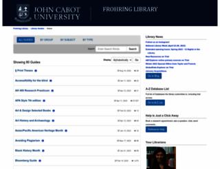 johncabot.libguides.com screenshot