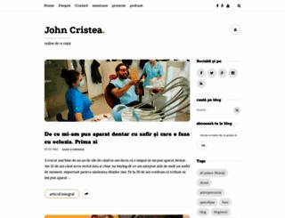johncristea.ro screenshot