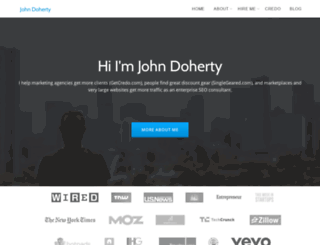 johnfdoherty.com screenshot