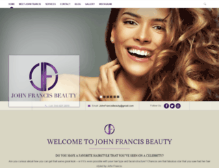 johnfrancisbeauty.com screenshot