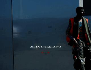 johngalliano.com screenshot