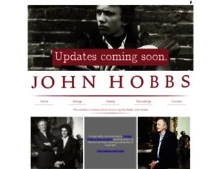 johnhobbs.co.uk screenshot