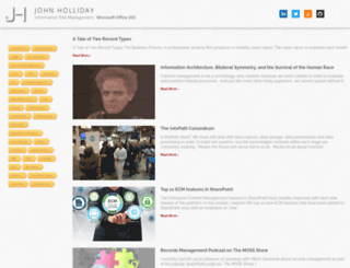 johnholliday.net screenshot