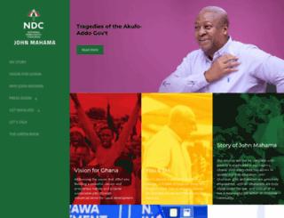 johnmahama.org screenshot