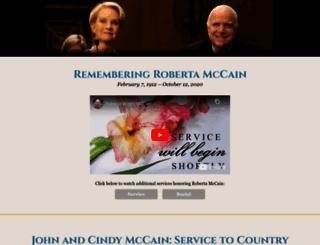 johnmccain.com screenshot