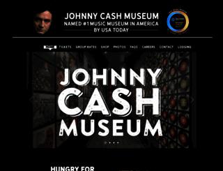 johnnycashmuseum.com screenshot